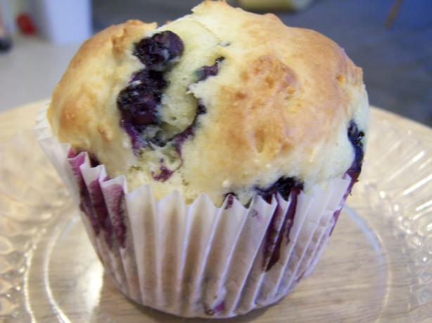 Blueberry Sour Cream Muffins. Photo by mojo mom