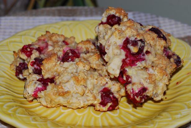 Lemon Cranberry Oat Scones Recipe - Food.com
