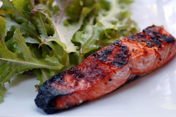 Grilled Salmon Paprika. Photo by Elana's Pantry