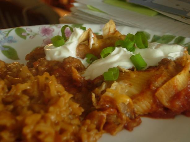 Taco Stuffed Pasta Shells Recipe - Food.com