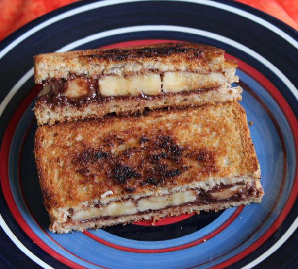 Banana and Nutella Sandwiches. Photo by Boomette