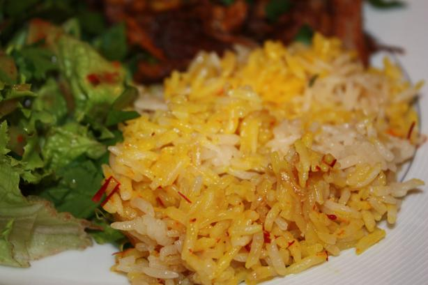 Saffron Rice. Photo by IngridH