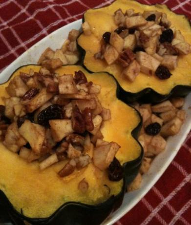 Apple Stuffed Acorn Squash Recipe Food Com