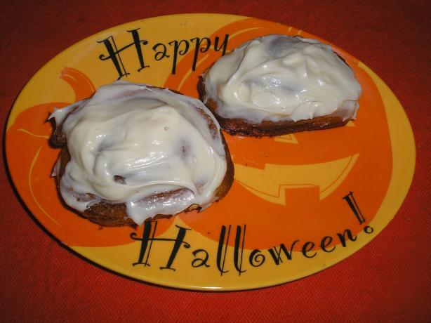 Pumpkin Cinnamon Rolls With Cream Cheese Icing. Photo by Queen Dana