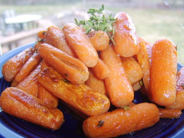 Roasted Dutch Carrots With Honey and Thyme. Photo by LifeIsGood