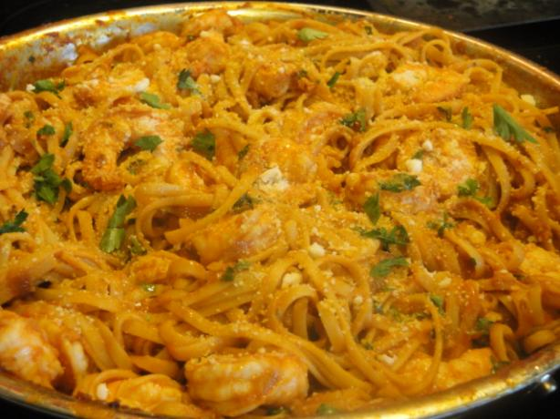 Shrimp and Linguine Fra Diavolo by Emeril. Photo by Muffin Goddess