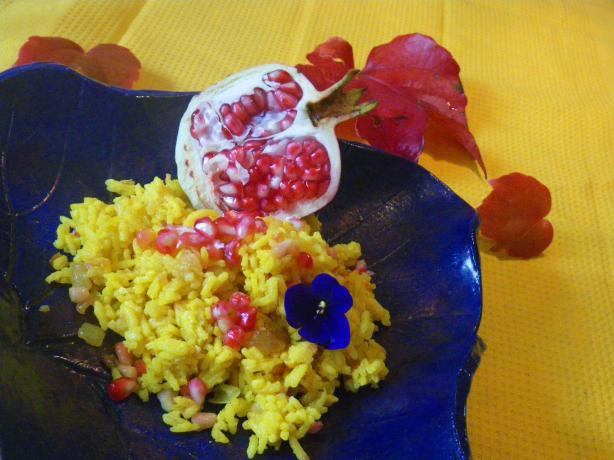 Yellow Rice Pilaf Pomegranate Recipe - Food.com