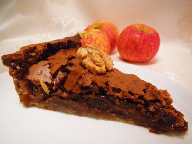 Chocolate Chess Pie With Walnuts