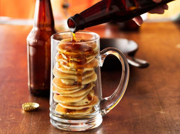 Beer and Bacon Mancakes. Photo by Betty Crocker Recipes