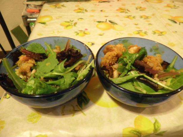 Crispy Breaded Shrimp With Cannellini Beans easy fast recipe
