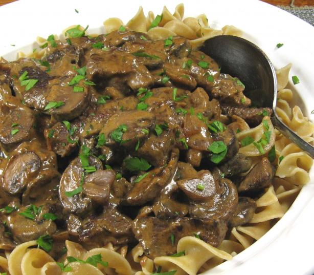 Best Beef Stroganoff. Photo by dianegrapegrower