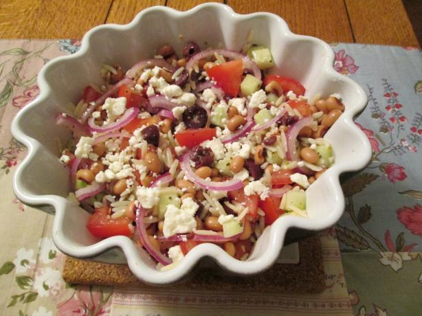 Greek Salad With Orzo And Black-Eyed Peas Recipe - Greek.Food.com
