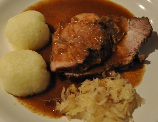 Authentic schweinebraten german pork roast bavarian style for Authentic german cuisine