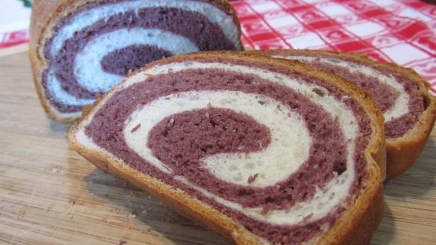 Purple Yam Two Tone Bread Recipe Food Com
