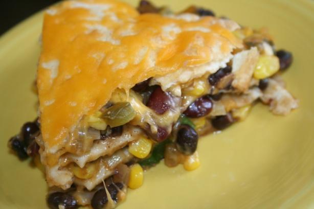 Black Bean Tortilla Pie Recipe - Food.com