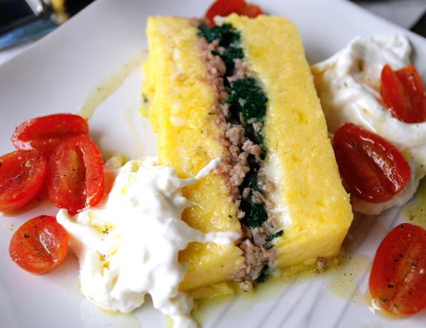 Layered Polenta Loaf With Italian Sausage & Cheese (See directions and ...
