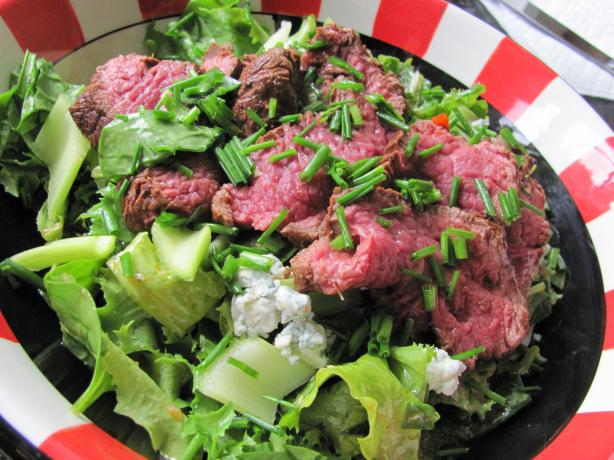 Sliced Steak Salad With Bloody Mary Vinaigrette. Photo by JanuaryBride