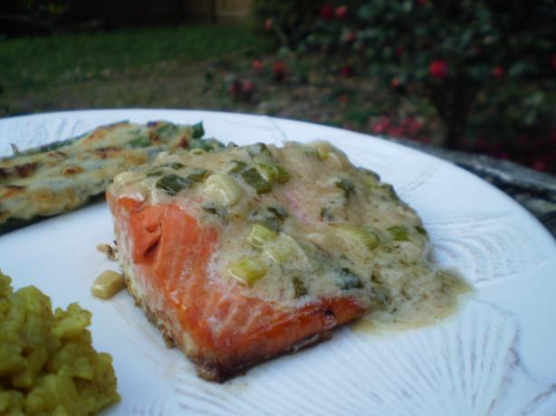 Salmon With Wine Mustard Sauce Recipe - Food.com