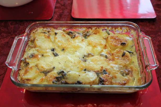 Potato Gratin With Porcini Mushrooms and Mascarpone Cheese. Photo by ...