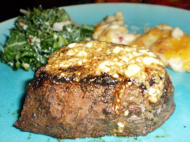 Steak With Blue Cheese Butter. Photo by breezermom