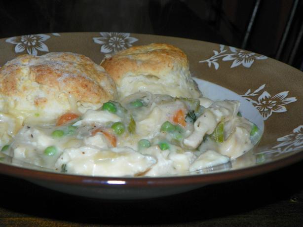 Chicken Pot Pie With Buttermilk Biscuit Crust. Photo by Baby Kato