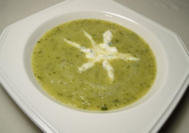 Zucchini Soup With Herbed Cream Recipe - Food.com