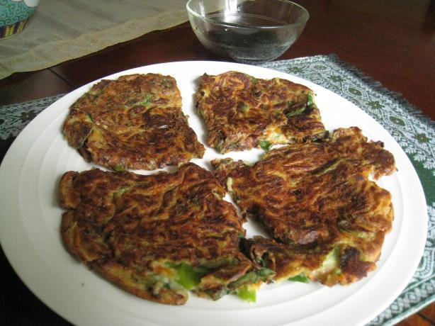 Korean Scallion Pancakes -- Pa Jun. Photo by Vegetarian Hostess