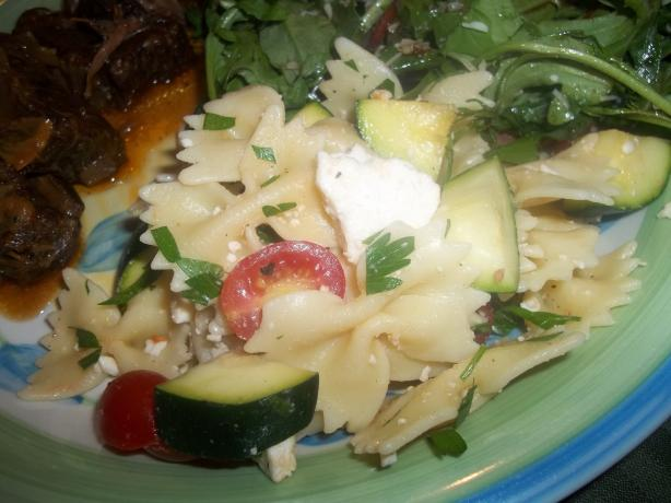 Pioneer Woman's Pasta Salad With Tomatoes, Zucchini and Feta. Photo by ...