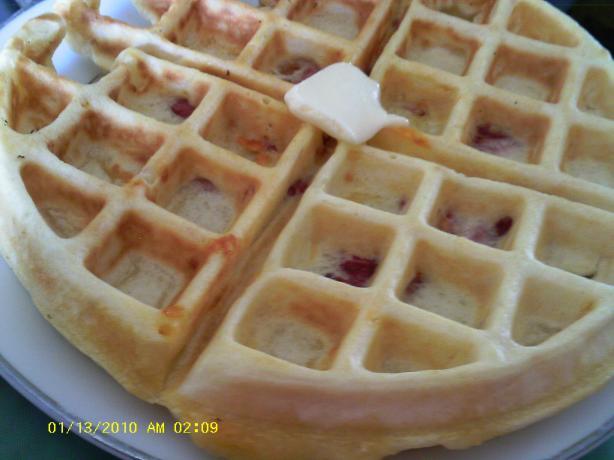 Ham and Cheese Waffles. Photo by Dienia B.