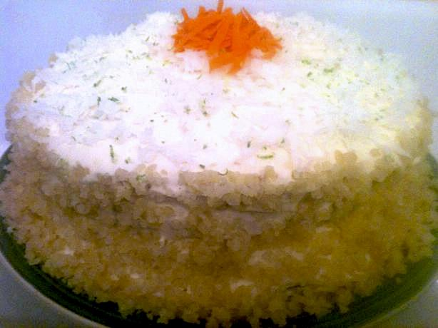 Tropical Carrot Layer Cake With Island Icing Recipe - Food.com