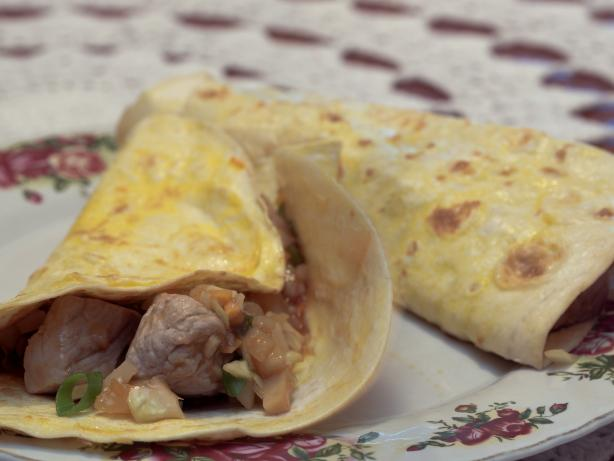 Moo Shu Pork With Mock Mandarin Pancakes. Photo by Peter J