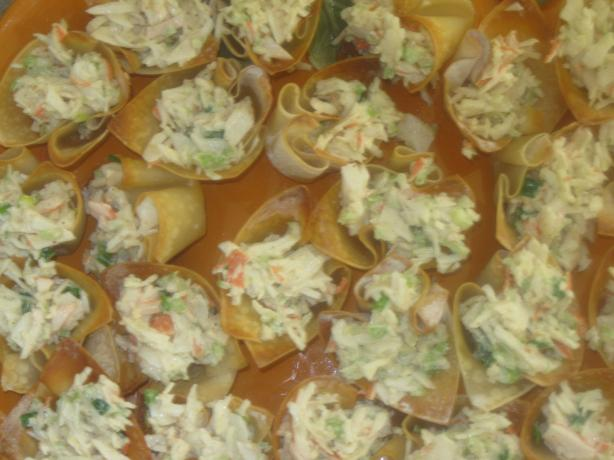 Crab Salad in Crisp Wonton Cups. Photo by Douglas Poe