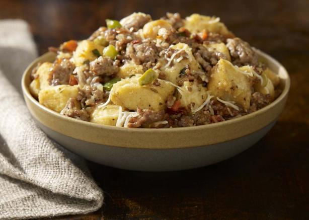 Traditional Italian Sausage Stuffing. Photo by Johnsonville Sausage