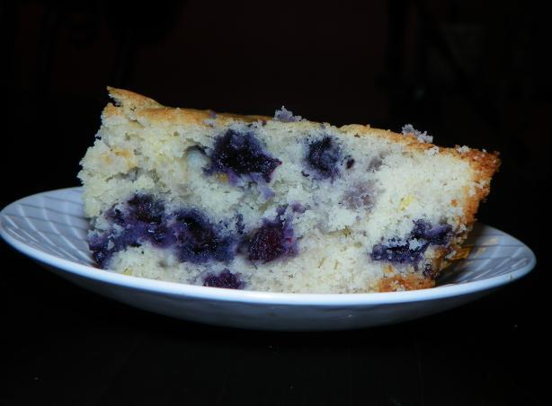 Buttermilk-Blueberry Breakfast Cake. Photo by Baby Kato