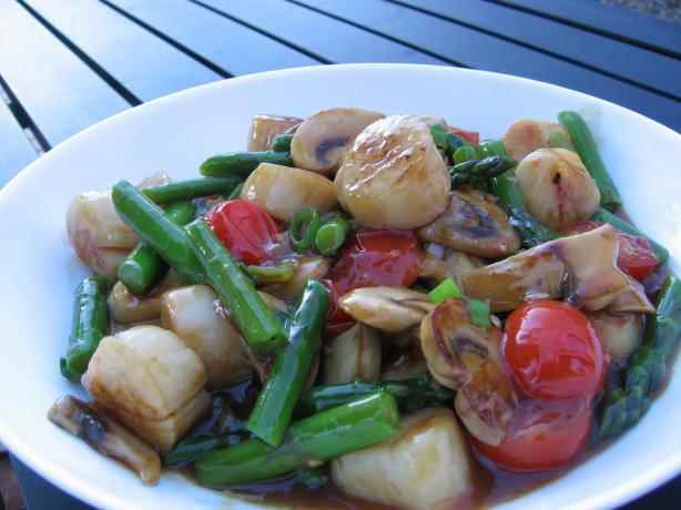 Scallop And Asparagus Stir Fry Recipe - Food.com