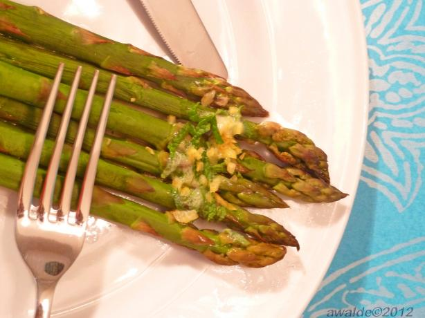 Asparagus With Butter Lemon And Mint Drizzle Recipe - Food.com