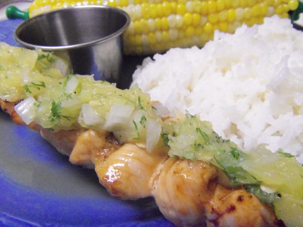 Maple-Glazed Chicken Kabobs With Sweet Jalapeno Salsa Recipe - Food ...