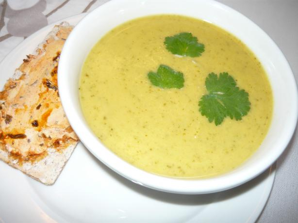 Curried Zucchini Soup. Photo by Yellow Billed Magpie