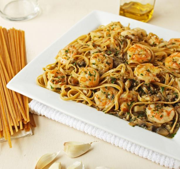 Sautéed Shrimp and Mushroom Pasta. Photo by Simply Fresh Cooking