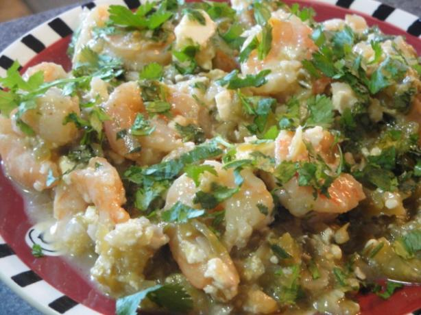 Baked Shrimp With Tomatillos. Photo by Muffin Goddess
