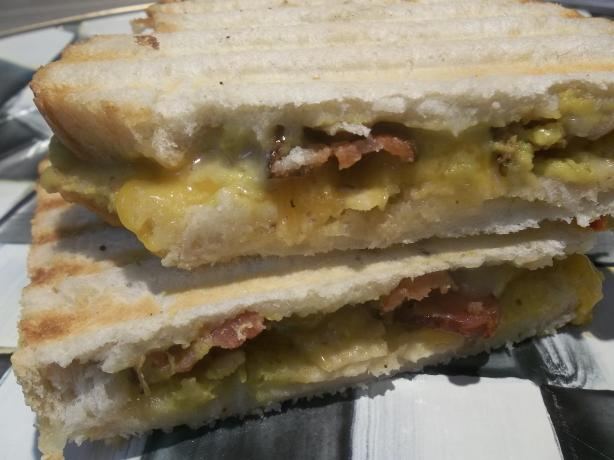 Bacon Guacamole Grilled Cheese Sandwich. Photo by FLKeysJen