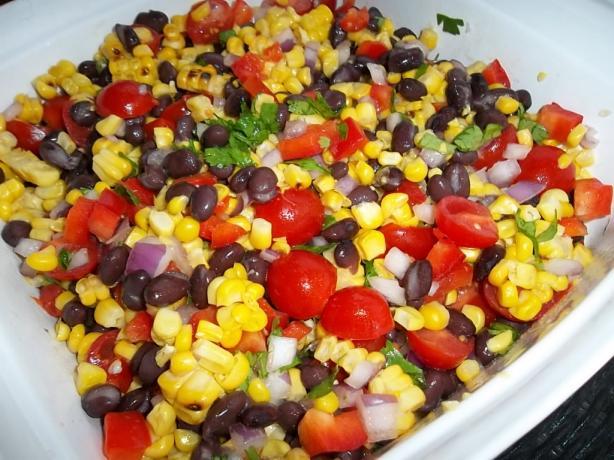 Grilled Summer Corn Salad #RSC. Photo by cookingupstorm2