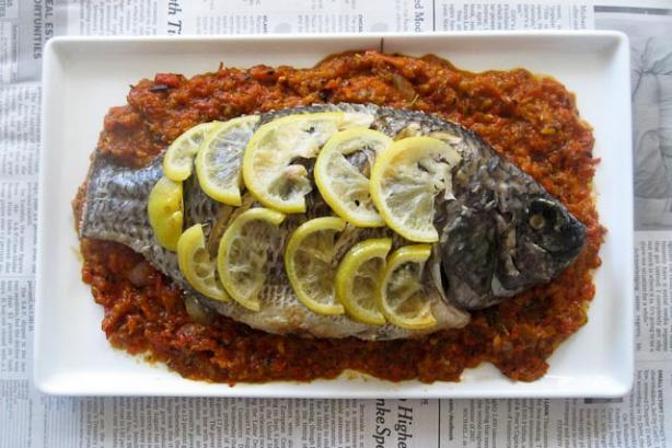 Lemon Grilled Whole Tilapia With Grilled Bell Pepper Salsa #RSC Recipe ...