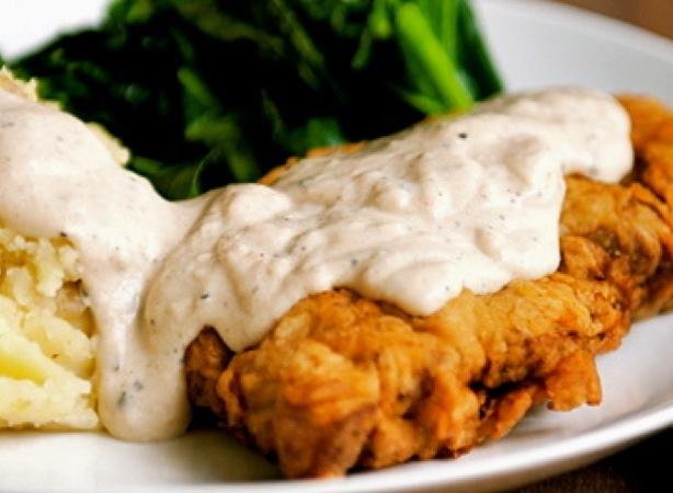Kentucky Fried Steak With Cream Gravy. Photo by The Spice Guru
