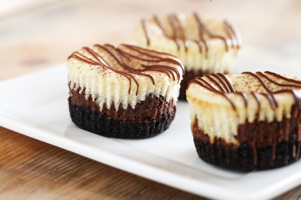 Mini Chocolate Hazelnut Cheesecakes. Photo by Jif® Recipes