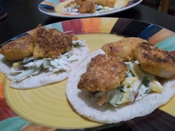 Capn crunch cod fish tacos by food dudes recipe for Cod fish taco recipe