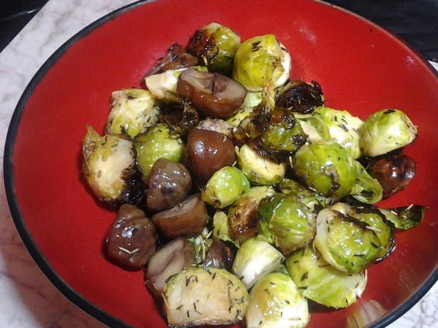 Sauteed Brussel Sprouts With Roasted Chestnuts Recipe - Food.com