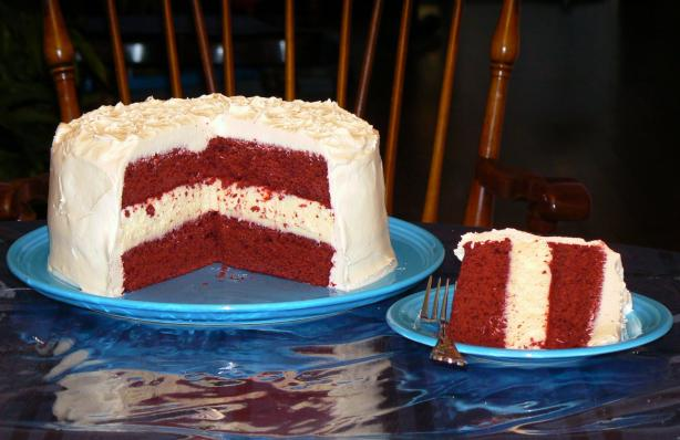 Red Velvet Cheesecake Cake. Photo by Realtor by day, Chef by night