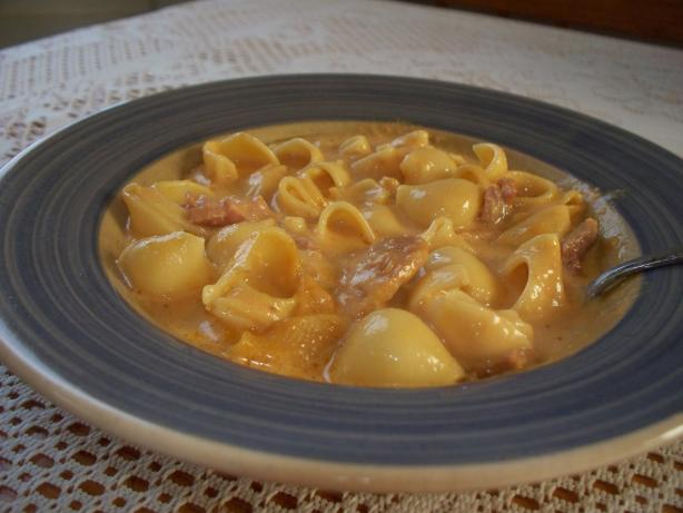 Macaroni and Cheese Soup With Ham ( Crock Pot). Photo by misspunkin69