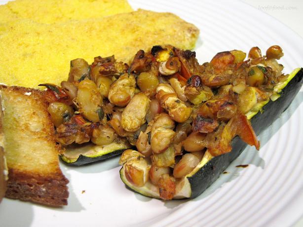 Zucchini Stuffed With Tomato, White Beans, And Pesto Recipe - Food.com